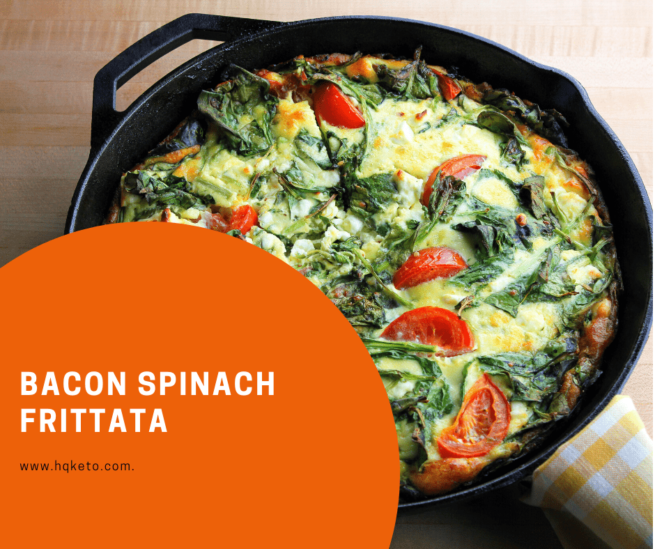 keto Bacon Spinach Frittata