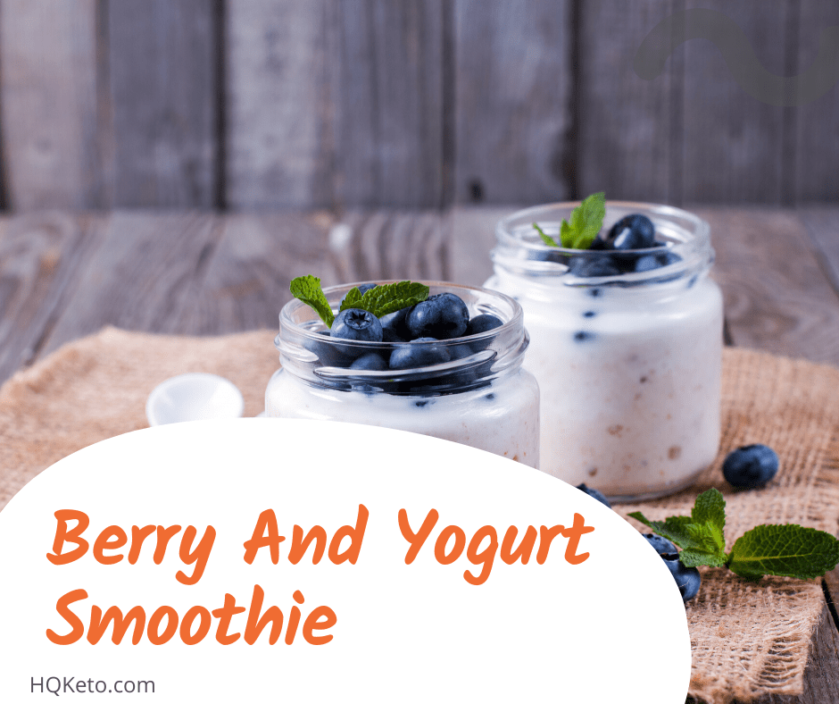 keto breakfast Berry And Yogurt Smoothie