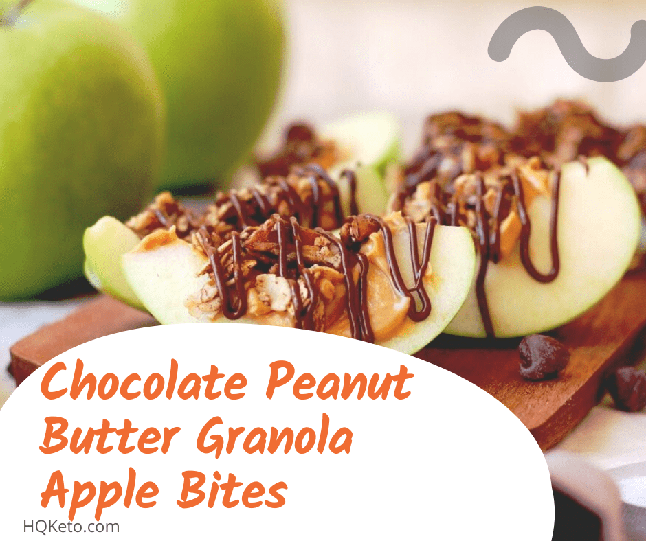 Chocolate Peanut butter Granola Apple Bites