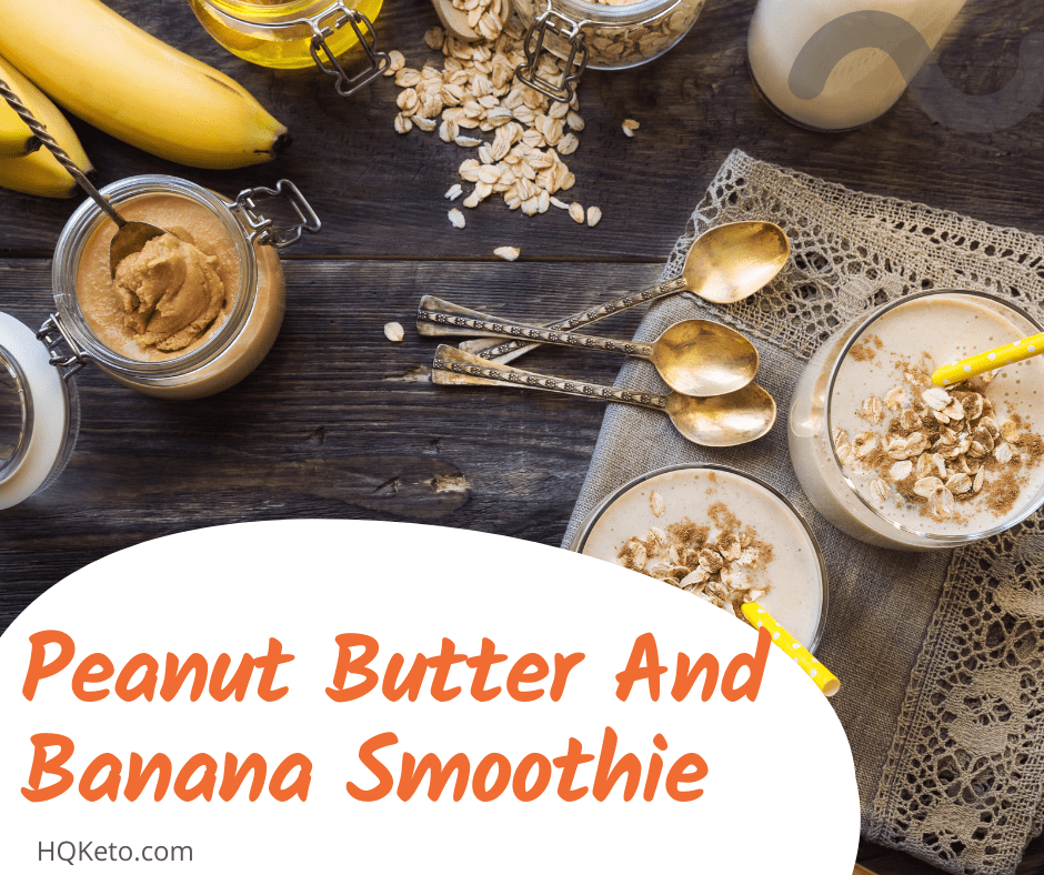 Peanut Butter And Banana Smoothie for breakfast