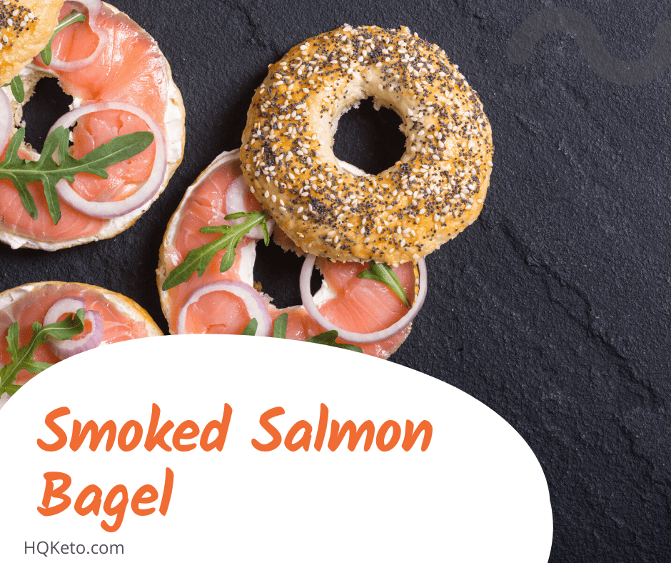 ketogenic Smoked Salmon Bagel