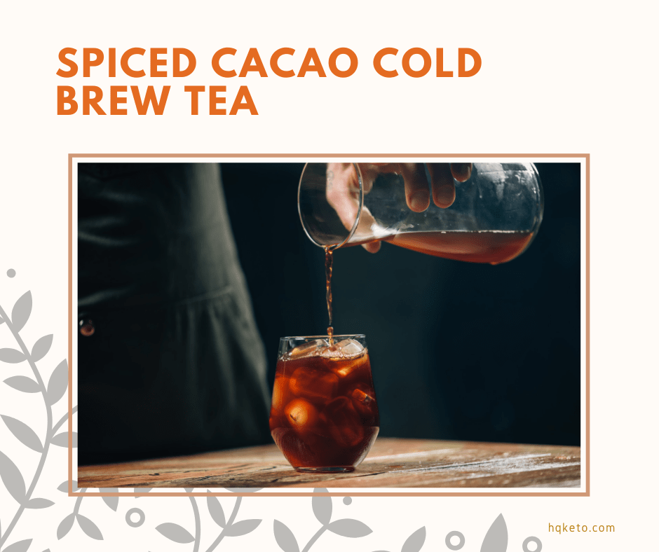 keto Spiced Cacao Cold Tea