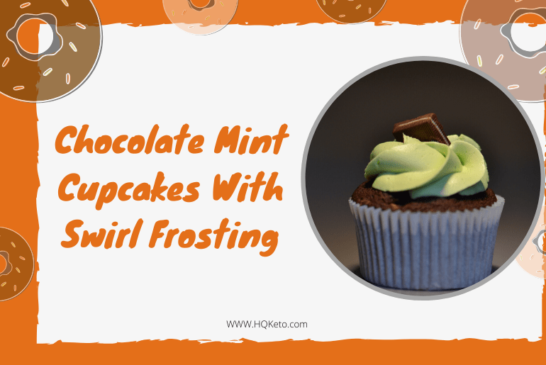Mint Cupcakes With Swirl Frosting