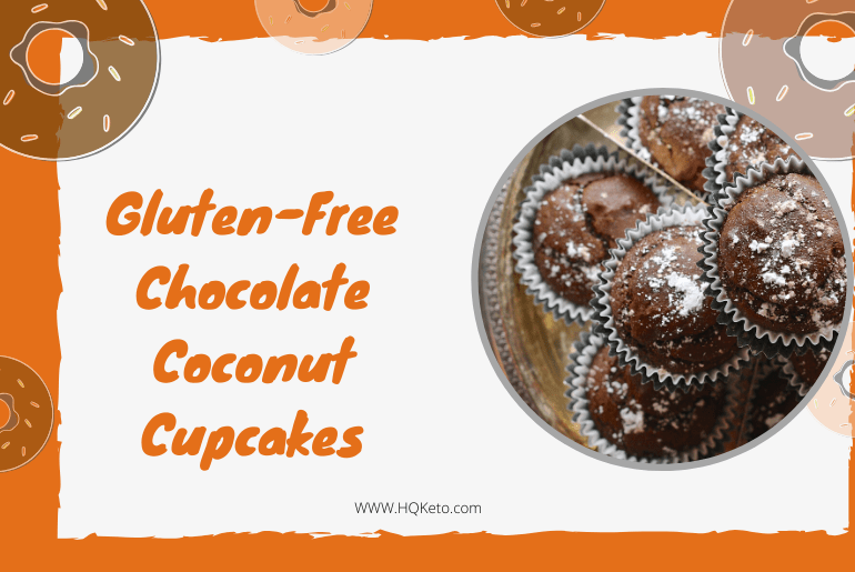 low carb Chocolate Coconut Cupcakes
