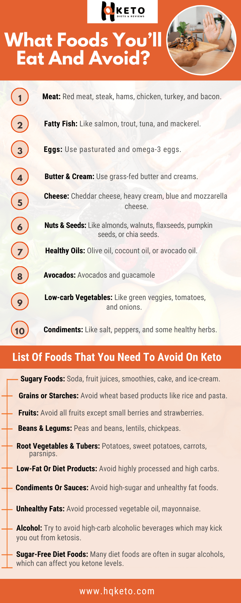 Which Foods Avoid on keto diet