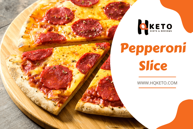 keto Pepperoni Slice